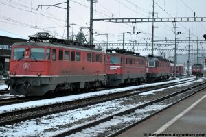 Ae 6-6 11485 + 11419 + Re 6-6 11605 by SwissTrain