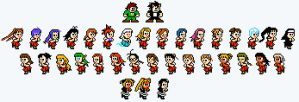 Megaman-style Negima Sprites by TheBigBoo