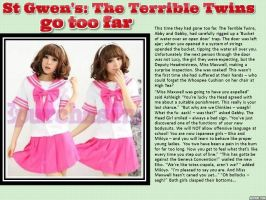 Girls of St Gwen's: The Terrible Twins go too far by p-l-richards