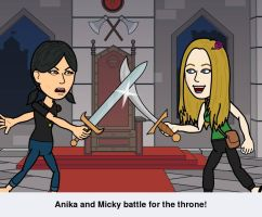 Spanky and Micky Battle for the Throne by mickyjenver