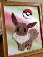 Fabric Art - Eevee 3 by Clarobell