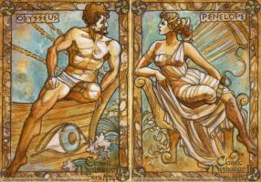 Odysseus and Penelope by BohemianWeasel