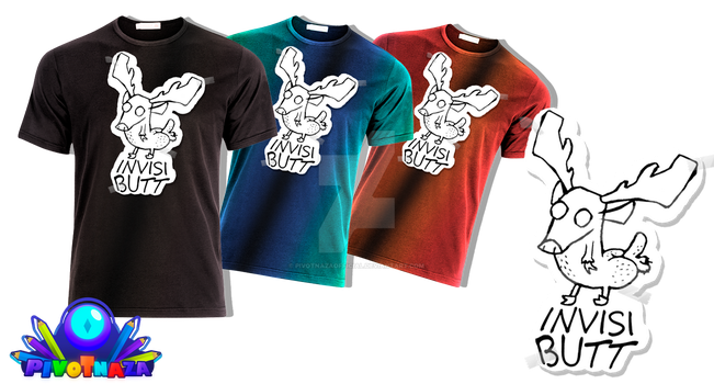 Merchandise - Invisi-Butt T-shirt by PivotNazaOfficial