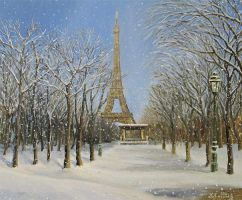 Winter In Paris by kirilart
