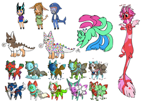 {Various} Adopts Mixed: Some old, some new! [OPEN] by Okamikitsu