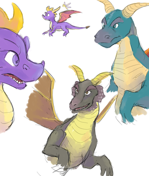 Spyro n dragons by Un-Genesis