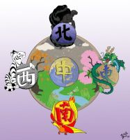 Chinese Mythological Compass by ToonSkribblez