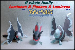 A whole family of Finneon by Toshikun