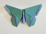 Origami Blue-Green Butterfly by KamiWasa