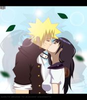 NaruHina highschool Love kiss by Sarah927