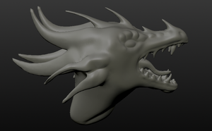 Roaring Dragon sculpt 2 by DragonLover4Ever