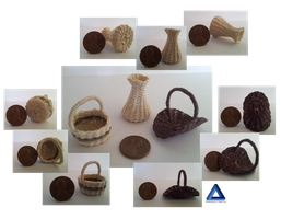 Little Handwoven Baskets by ParadoxCrafts