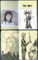 First sketchbook pages by Roman-Stevens