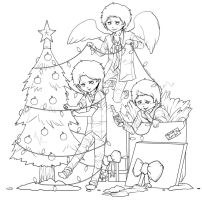 Supernatural Christmas WIP by Maximum-Delusion