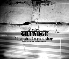 Grundge Brushes by Neveryph-stock