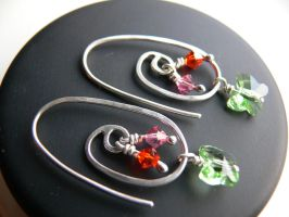 silver simple earrings by irineja
