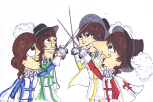 The fab four Musketeers by Abbey-Road-Medley