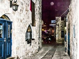 Full moon on the old city by ShlomitMessica