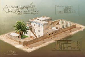 Egyptian House Reconstitution (Amarna Period) by yannickdubeau