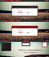 Red Black mn Theme For Windows 8.1 by cu88