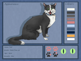 Will Ref -New cat char- by Mauli-cat