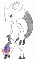 [Cubicle Drawing 06] - Mega Mewtwo Y by DragoonMyuutsu