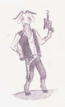 Han 'Goat' Solo by thedrbean