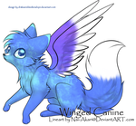 Galaxy Winged Canine - 10 pts ({CLOSED}) by drakeanddestleradopt