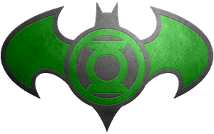 Batman Green Lantern Metalic Logo by KalEl7
