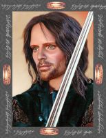 Doll repainted as Aragorn by noeling