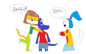 Saber Tooths purr by Koleyl