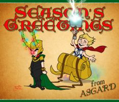 Season's Greetings from Asgard by Batcroz