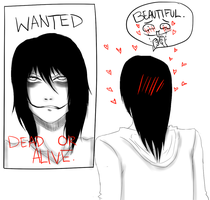 Jeff The Killer's Wanted Poster. by MikaelBratLoni