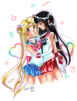 Usagi and Rei by loriofpandora