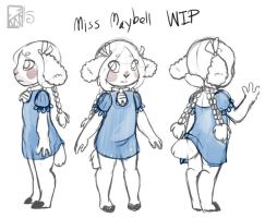 Kitical: Miss Maybell WIP by Kinla