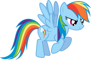 Another Flying Rainbow Dash Vector by uxyd
