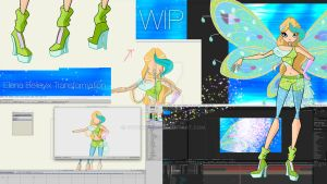 Elena Believix Transformation WIP #01 by Cyberwinx