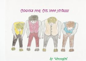 1000 hits - Thanx by drumgirl