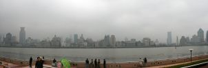 Shanghai panorama by afoxen