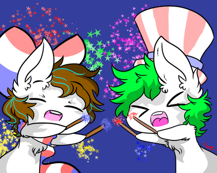 Happy fourth of july! by Myumimon