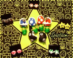 Nintendo Earrings by spaztazm
