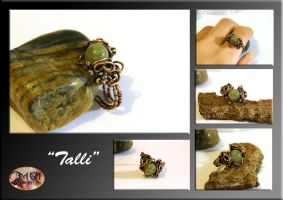 Talli- wire wrapped ring by mea00