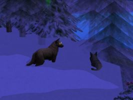 wolf in the snow sims 2 by Spinosaur123