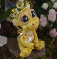 polymer clay dragon sunshine by crazylittlecritters