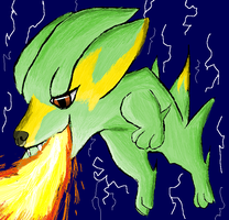 Electrike used FLAMETHROWER by Thundrbolt