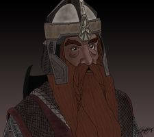 Gimli Lord of the Rings by DennisB-Art