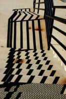 Diagonal Shadows on Stairs by Geak-of-Nature
