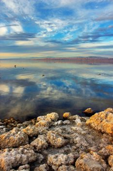 Sunset over the Salton Sea by patrick-brian