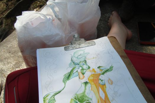 29th sketchcrawl 20 by hakesh-chan