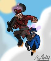TF2: Tech's gift, 'There's a spy in my boot!' by Nicolas-SW
